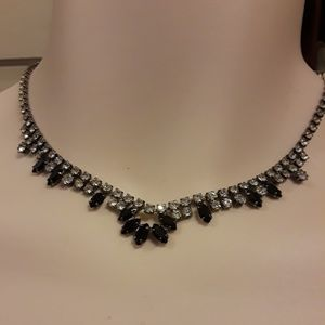 Jewelry - Black and white rhinestone necklace